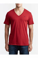 True Religion Men's Classic V Neck Tee T-Shirt in Ruby Red