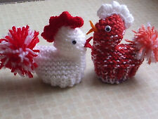 ROCKY THE ROOSTER EASTER CHICK / CREAM EGG COVER LAMINATED KNITTING PATTERN