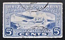 Canada Rare used AUG 13 1928 Victoria to Vancouver British Columbia Airways CL44