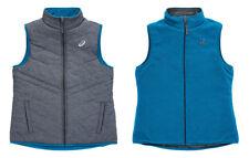 Asics Womens Reversible Vest - Puffer & Fleece - Athletic Trim Fit 2-in-1 Design