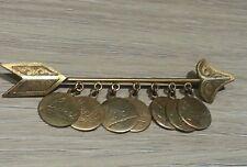 Vintage Arrow names of the week charms brooch Toledo Damascene