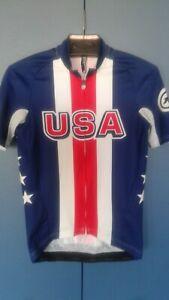 Assos Team USA Short Sleeve Jersey Men SMALL Road Bike Race
