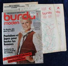 BURDA MODEN - Janvier 1982 - Complet des Patrons