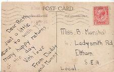 Genealogy Postcard - Family History - Marshall - Eltham - London S.E.9   U1962