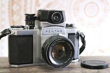 Pentax H1 35mm Film Camera, Auto Takumar 55mm f2.2 Lens, 10 Blades, Meter, RA121
