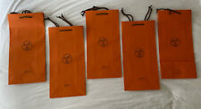 Lot Of 5 Hermes Paris Empty Shopping Bags, Brand New Never Used, 16.5�x 8�x 4�