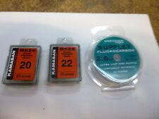 Kamasan b525 sz20/22eyed hooks box /25 river pellet feeder drennan fluoro 2.6lb