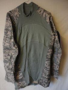 orig US Air Force Combat Shirt , MASSIF , ABU (Tigerstreipe) , Gr.L  NEU