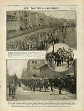 Thessaloniki Italia Army Salonique Général Sarrail & Pettiti Izonzo War 1916 WWI