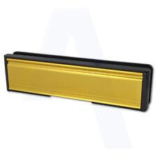 """Welseal LETTER BOX / PIASTRA 265MM / 10 """"per adattarsi UPVC Porta oro / ottone"""