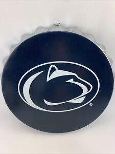 """PENN STATE NITTANY LIONS Bottle Cap Metal Wall Sign Man Cave Bar Decor 13.5"""""""