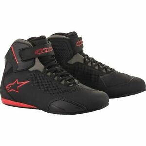 Alpinestars Sektor Vented Riding Shoes - Black/Grey/Red, All Sizes