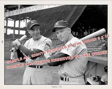 MICKEY MANTLE & JOE DIMAGGIO  1951 YANKEE STADIUM 8X10 SUPERB DETAIL ORIG SOURCE
