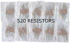 Lot of 520 Resistor 21 Values 1/4W  5% Kit Set