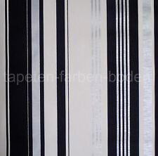 Streifen Tapete - Schwarz, Silber, Weiß - Rasch 882308 -  NEU