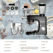 Heavy Duty Electric Meat Grinder Kitchen Mixer Blender 6 Speed Commercial Black