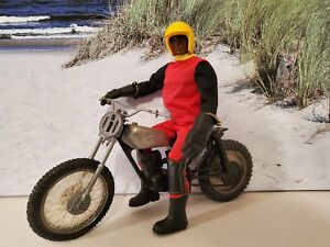 Mattel Olympic Big Jack Figur Motocross Outfit, mit Honda,  selten, lose