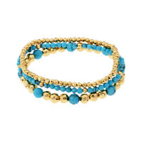 Gorjana Gypset Bracelet Set Of 3 With Turquoise 18320367G