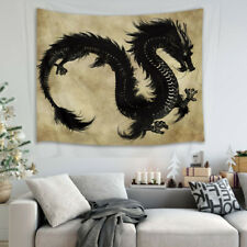 2X1.5M Black Dragon Tapestry Wall Hanging Living Room Bedroom Bedspread Dorm