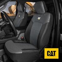 CAT MeshFlex Front Seat Covers Set - Black & Gray Truck SUV Van Car Seat Covers