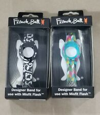 LOT OF 2 ~ French Bull Designer Bands for MISFIT FLASH With Chrome Clasp
