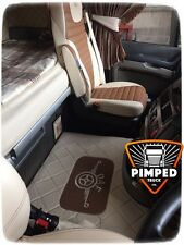 DAF 105xf EURO6 (106xf) after 2014-... ECO LEATHER floor mats beige&light brown