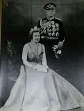 Sultan and Lady Marcella Ibrahim of Johor Photo/ signed & dated 1953