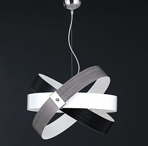 Hanging Modern Chandelier Effect Wood Chrome Wheels Colors