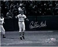 "Carlton Fisk Boston Red Sox Autographed 8"" x 10"" Watching HR Photograph"