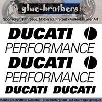 Ducati Performance Aufkleber Set Motorsport Sticker Motorrad Farbauswahl MotoGP