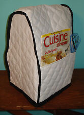 KitchenAid Mixer Appliance Cover~White Quilted~Black Trim~Tilt Head~Free Ship~