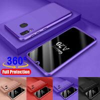 For Samsung Galaxy A20/A20S/A10e Defender Armor Case 360° Protective Cover+ Film