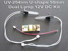 UV-C 254nm Germicidal Air Purification Ushape 50x8x 50mm Dual Bulb 12V DC Kit