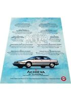 1993 Oldsmobile Achieva  2-page - Vintage Advertisement Car Print Ad J407