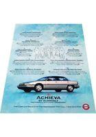 1993 Oldsmobile Achieva  2-page - Vintage Advertisement Car Print Ad J407