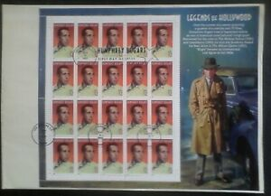 US Stamps, 1997 First day of Issue, Sheet of 20, Honoring Humphrey Bogart