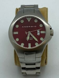 Android Skeleton 21J Automatic Movement AD408 Men's Watch Red Face 47mm WR 330'