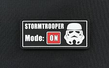 3D PVC STORMTROOPER MODE ON Star Wars Rogue One First Order VELCRO® Brand