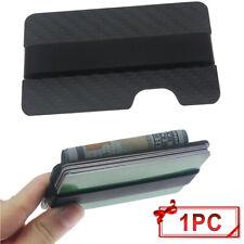 Mens Carbon Fiber Slim Bank Debit Card Holder Money Clip Wallet RFID Blocking US
