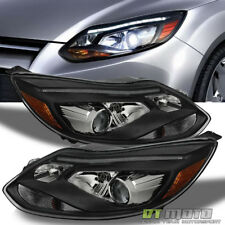 European For 2012 2013 2014 Focus Projector Black Headlights w/DRL LED 12 13 14