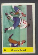 1958-59 Parkhurst Montreal Canadiens Hockey Card #21 Jacques Plante/Others IA