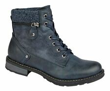 Ladies Womens Ankle Boots Lace Up Padded Collar Memory Foam Shoes Size