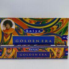 SATYA GOLDEN ERA NAG CHAMPA INCENSE STICKS BOX OF 12 X 15 GRAM PACKS (180G)