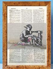 Banksy Slave Labour street art art dictionary page art print vintage antique P78