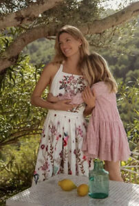 NEW Anthropologie Eularia Maxi Dress Floral Embroidered Size 8 Petite