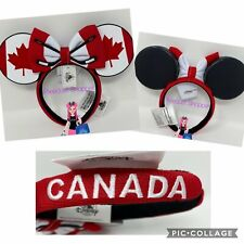 Disney Canada Hockey Puck Minnie Ear Headband