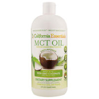 California Essentials MCT Oil 32 oz Non-GMO C8 & C10 Coconut Oil **NO PALM OIL**