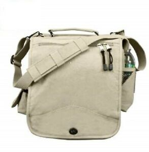 SALE Rothco Khaki Canvas M-51 Engineers Field Bag with Shoulder Strap 8672