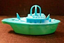 """Vintage Plastic Toy Boat & Whistle 1950s 3 3/8"""" Hong Kong ~ Ray Rohr Cosmic Arti"""