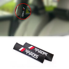 2pcs Toyota TRD Carbon Fiber&Embroidery Car Seat Belt Cover Pad Shoulder Cushion
